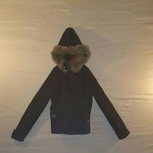 EUC Victoria's Secret black Pea Coat